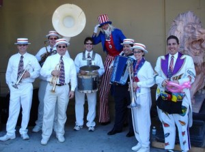 Dixieland Band with Uncle Sam