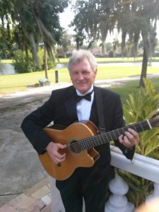 Guitarist performing for romantic surprise, Orlando by MusicRemembrance.com